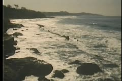 Wide shot of CapeTown, South Africa coastline Stock Footage
