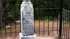 "John Henry ""Doc"" Holliday's tombstone Stock Footage"