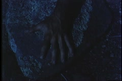 Close-up of human hand turning into beast's hand - stock footage