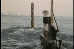 Close-up of top of submarine as it moves through water Stock Footage
