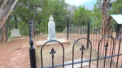 "Burial spot of the infamous John ""Doc"" Holliday gunfighter - stock footage"