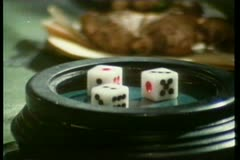 Close-up of hands collecting money from gambling table Stock Footage