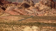 Stock Video Footage of Road in Valley of Fire, Nevada (zoom out)