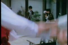 Men practicing martial arts Stock Footage