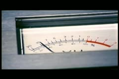 Close-up of VU meter Stock Footage