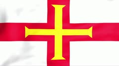 Flag Of Bailiwick of Guernsey Stock Footage