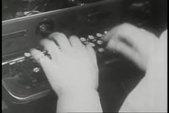 Close-up of woman typing on typewriter Stock Footage