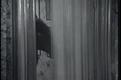 Toy horse opening door Stock Footage