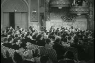Audience clapping during theatrical performance Stock Footage