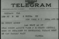 Close-up of a telegram - stock footage