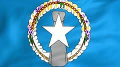 Flag Of Northern Mariana Islands Stock Footage