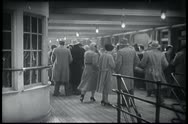 Stock Video Footage of People on deck of ocean liner