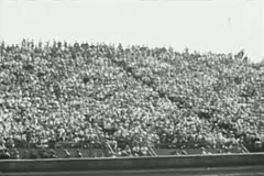 Wide shot of spectators at sporting event Stock Footage