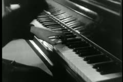Close-up of pianist playing piano Stock Footage
