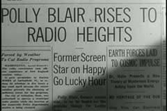 Headline - Former Screen Star on Happy Go Lucky Hour Stock Footage