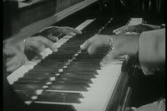 Close-up of jazz musician playing piano - stock footage