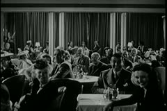 1940s, audience in nightclub applauding - stock footage