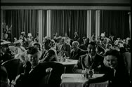 Stock Video Footage of 1940s, audience in nightclub applauding