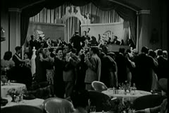 People applauding band in 1940s nightclub Stock Footage