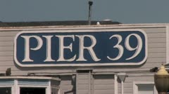 720p Pier 39 Sign Stock Footage