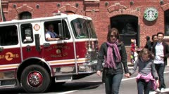 720p SF Fire Truck Stock Footage