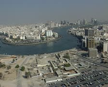 An aerial of the well known Dubai. Stock Footage