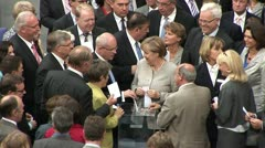 Vote in the German Reichstag in Berlin Stock Footage