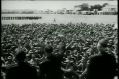 Soldiers cheering at Camp Pendleton Marine Corps Base Stock Footage