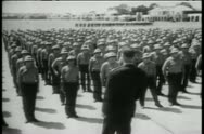 Soldiers listening to officer's speech Stock Footage