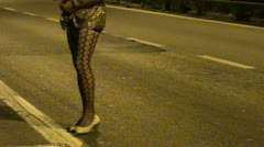 Prostitute in the street Stock Footage