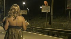 Prostitution in the street - Transsexual Stock Footage