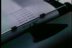Close-up of person typing on typewriter Stock Footage