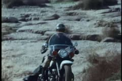 Clumsy motorcycle police - stock footage