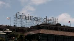 1440 Ghirardelli Sign Stock Footage