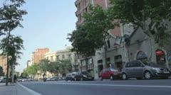 Barcelona city life Stock Footage