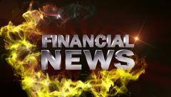 FINANCIAL NEWS Text in Particle (Double Version) Red - HD1080 Stock Footage