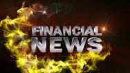 Stock Video Footage of FINANCIAL NEWS Text in Particle (Double Version) Red - HD1080