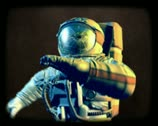 Astronaut in open space Stock Footage