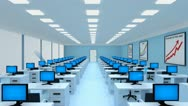 Modern office inside Stock Footage