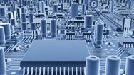 Abstract circuit board Stock Footage