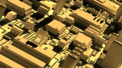 Abstract circuit board. Stock Footage