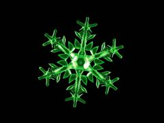 meditative, hypnotic 3d animation of an abstract snowflake. - stock footage