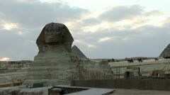 Egyptian Sphinx Sunset Time Lapse Stock Footage
