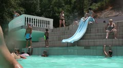 Water slide _2 Stock Footage