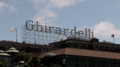 1080p Ghirardelli Sign Stock Footage