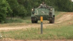Armoured personnel carrier 4 Stock Footage