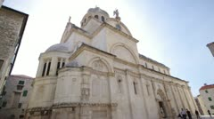 In Sibenik is Cathedral Sveti Jakov Stock Footage