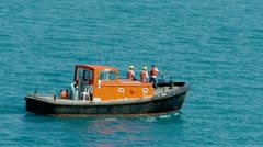 Bermuda Work Boat Stock Footage