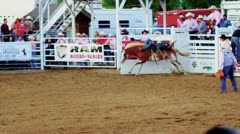 Wild Bronc Ride at Rodeo Stock Footage