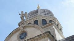 In Sibenik is Cathedral Sveti Jakov Stock Footage